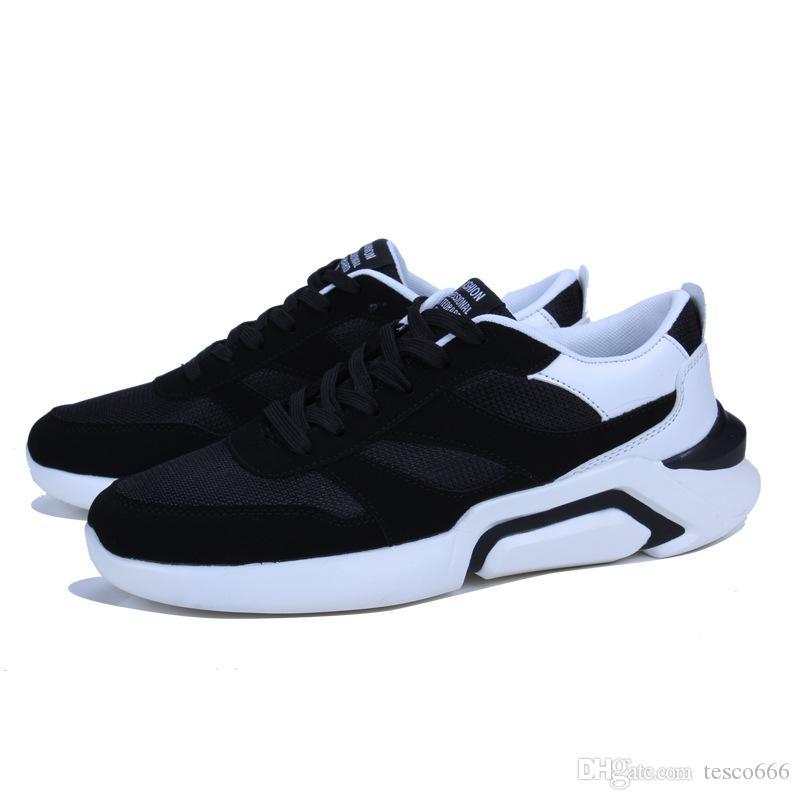 promo code 0f7f9 85f22 Acheter 2018 Printemps Automne Haute Qualité Hommes Casual Chaussures Dans  Le Fond Épais Le Classique De Mode Chaussures De Toile Respirant Baskets De   28.8 ...