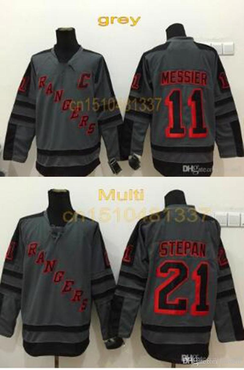 2019 New Arrival Mens New York Rangers 11 Mark Messier 21 Derek Stepan  Fashion Gray Shadow Charcoal Cross Check Ny Hockey Jersey From Cn Sell aeb2d3c87