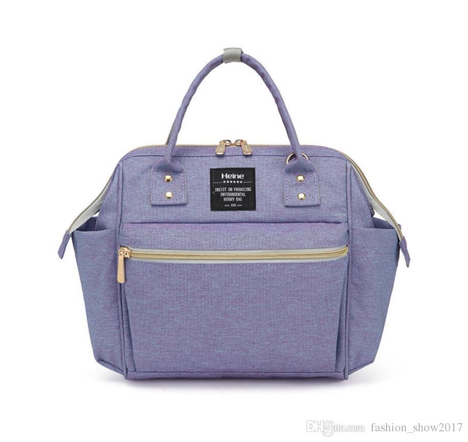 Heine Mommy Bags Fashion Mother Handbag Multifunction Diaper Maternity Shoulder Bags Outdoor Desinger Nursing Travel Bags