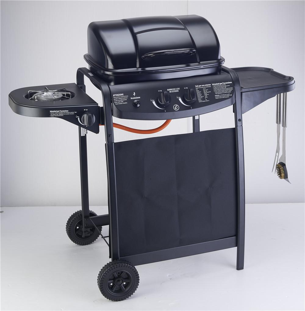 outdoor bbq grills. Enamel Gas BBQ Grill, Stove,gas Oven,outdoor Grill With Motor,two Burners Grills Cheap Online Outdoor Bbq