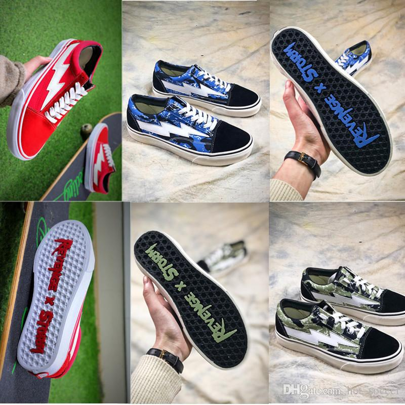 New 2018 Revenge X Storm Old Skool Canvas Men Shoes Mens Sneakers Skateboarding Sports Shoes Women Skate Womens Sports Shoes best place for sale fashionable for sale V44tAOCVl