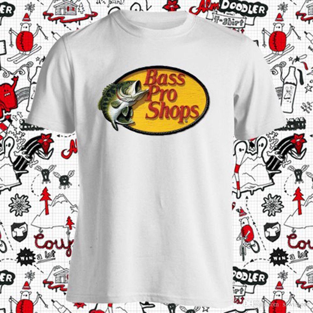 Bass Pro Shops Fishing Logo Mens White T Shirt Size S M L Xl 2xl