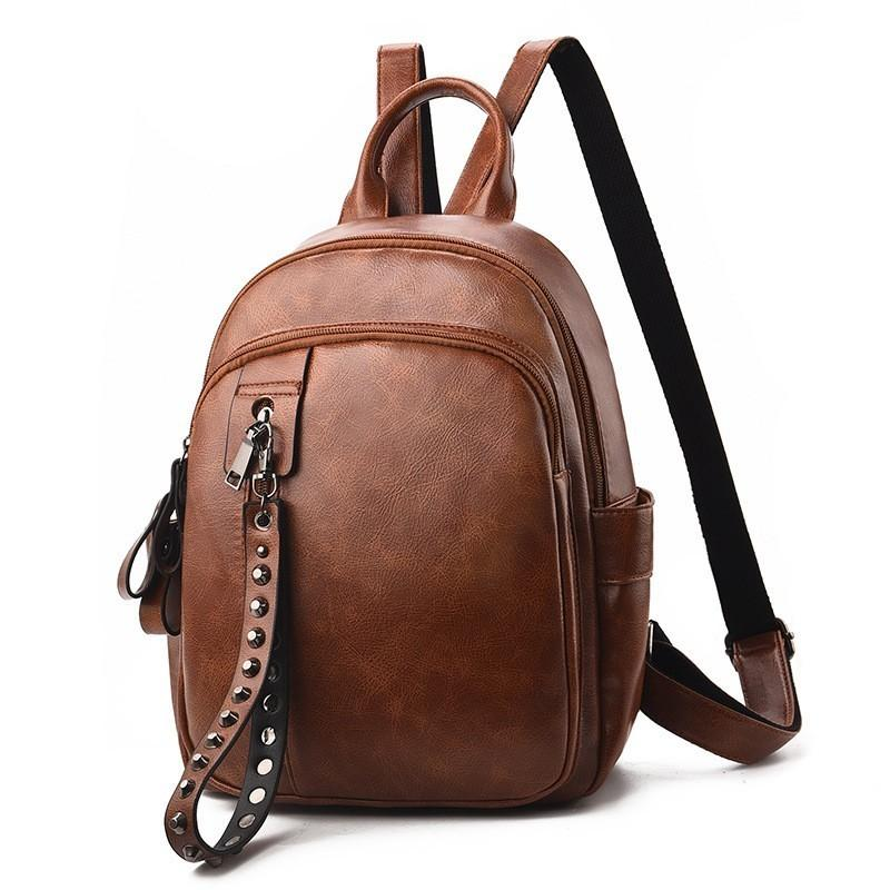 b51b84351431 Bags For Women Backpacks Leather Female Travel Shoulder Bag 2018 England  Style Casual Students Schoolbag Small Vintage Pu Packs