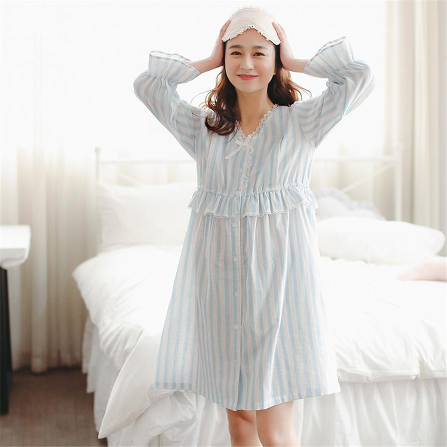 d35feb27265 2019 Maternity Breastfeeding Clothes Cotton Sleepwear Nursing Pajamas Dress  New Long Sleeve Hamile Pijama For Pregnant Women 70M0209 From Iraem, ...