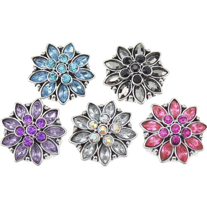 New Snap Jewelry Vintage Rhinestone Lotus Flower Snap Buttons For DIY 18mm  Snaps Bracelet For Women Charm Bracelet Brands Charm Jewelry From  Mudiaolan 2f2f56e117c6