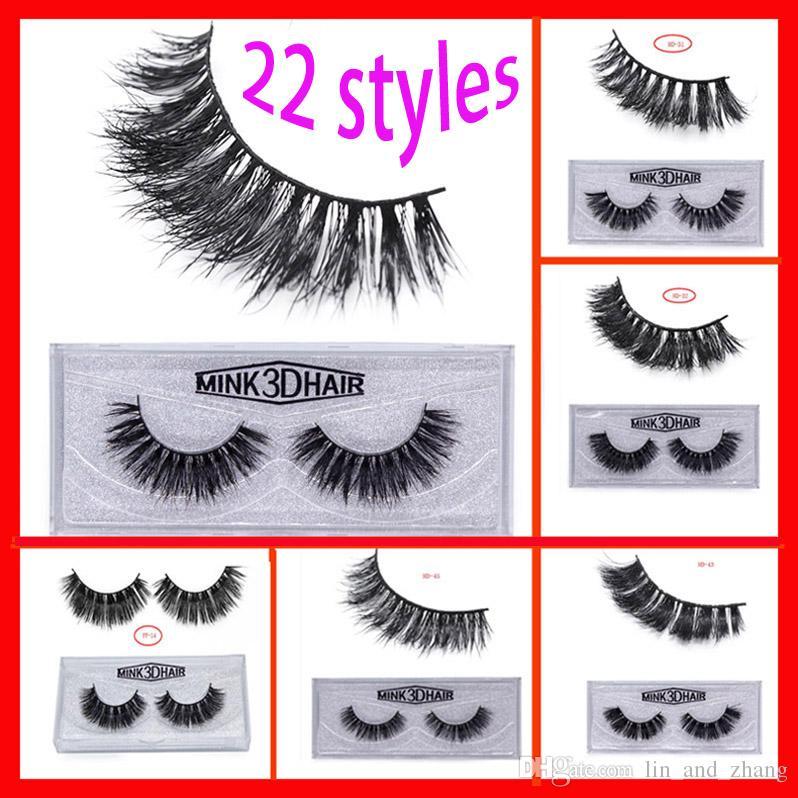 78ff2cc0a39 3D Mink False Eyelashes Makeup Wholesale 100% Real Mink Natural Thick False  Fake Eyelashes Eye Lashes Extension Crisscross Full Strip Lashes Lash Bar  Lash ...