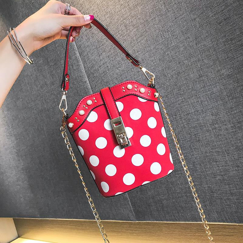 Fashion Women Bag Girls Leather Chain Handbag Crossbody Shoulder Bag Female Casual Hit Color Mini Small Messenger Phone Bag