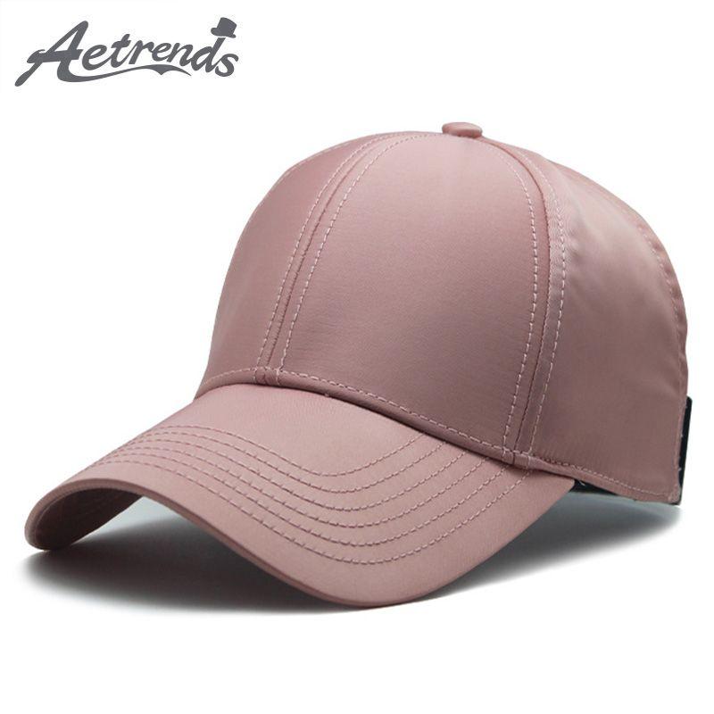 AETRENDS 2018 Summer Pink Hat Women Ponytail Tennis Hats Mens Baseball Caps  Bone Trucker Fitted Hiphop Cap Hiphop Cap Z 6523 Ball Cap Wholesale Hats  From ... 0c9f969e7c7