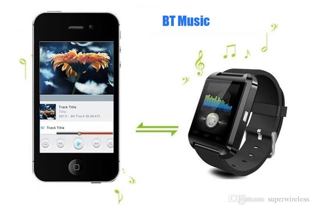 Smartwatch Bluetooth Smart Watch U8 For IPhone IOS Android Smart Phone Wear Clock Wearable Device Smartwach PK GT08 DZ09