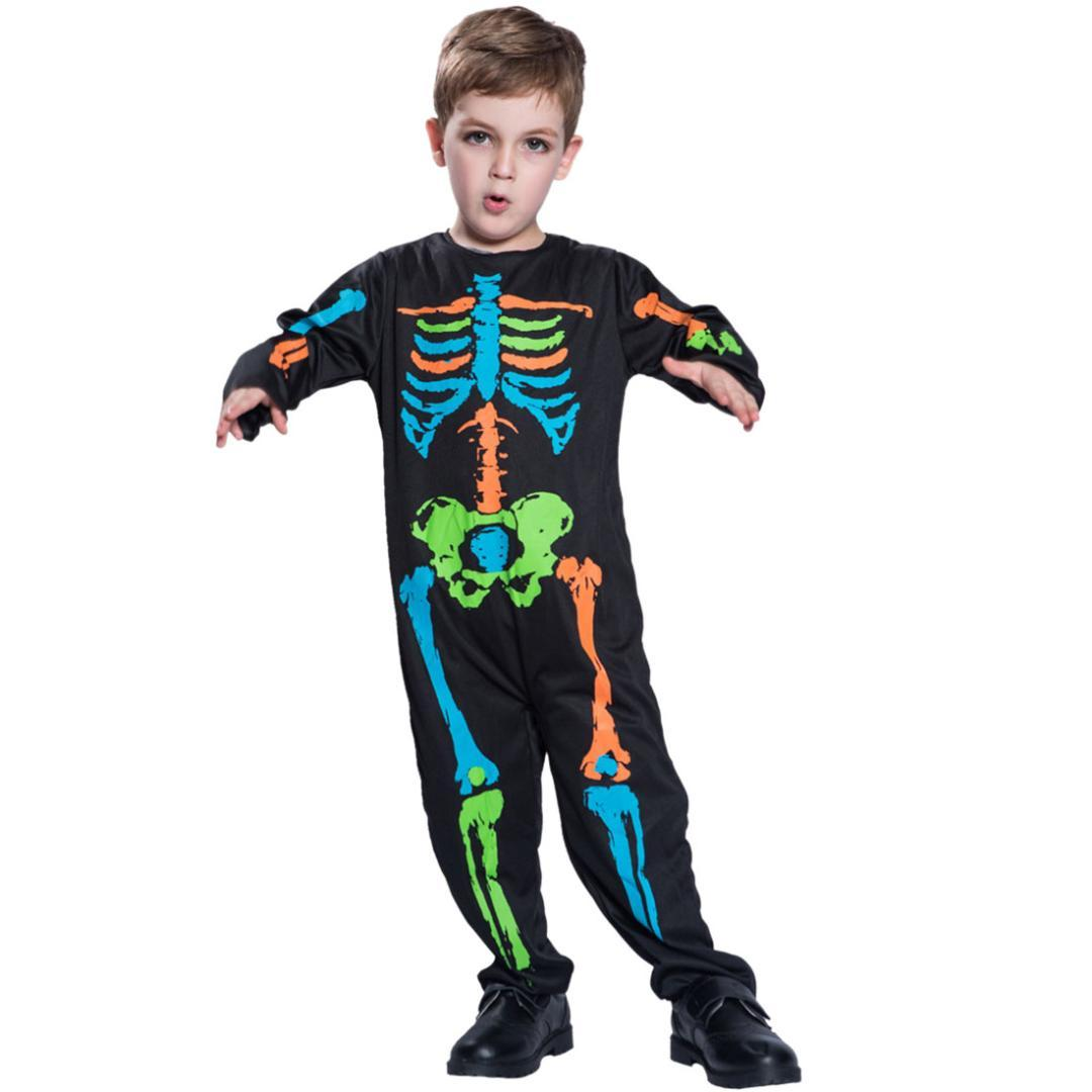 Zombie Halloween Costumes For Toddlers.Children Boys Halloween Cosplay Costume Halloween Party Terrifying Zombie Children Boys Clothing Masquerade Ball Cloth