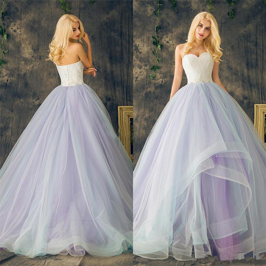 Discount 2018 Sweetheart Ball Gowns Purple Plus Size Multi Color ...