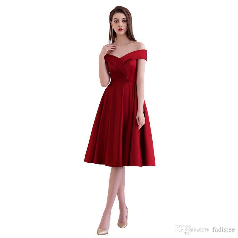 206aabffbd Vestido Social FADISTEE New Elegante Cocktail Dresses Vestido De Noite Vestidos  De Festa De Cetim Curto A Linha Modern V Neck Backless Lace Up Estilo ...