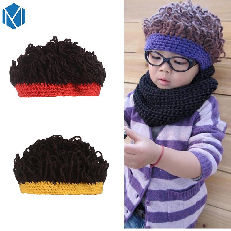 2019 Miya Mona 2018 Children Novelty Wig Hat Kids Exaggerated Woolen  Knitting Curly Beanies Warm Crochet Headwear Hair Accessories From  Qingteawater 6e2f1493044