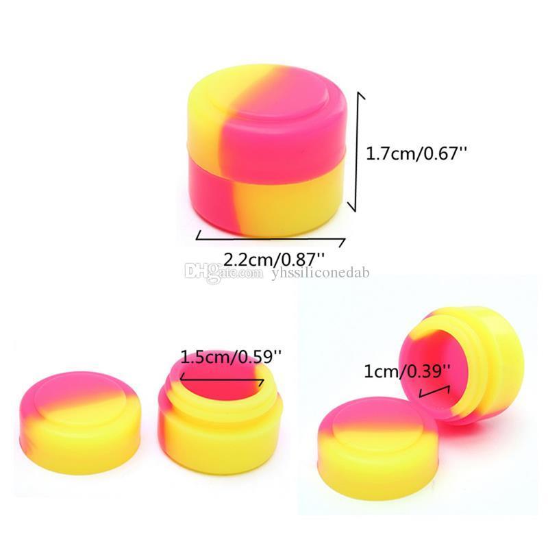 2ml Contenedor antiadherente de silicona Tarras de silicona Cera ContaoiNers DAB Tarro para fumar