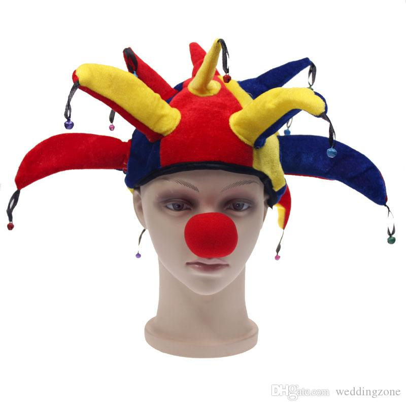Funny multicolor halloween hats and caps jester clown mardi gras funny multicolor halloween hats and caps jester clown mardi gras party costume hat adult outfit costumes halloween ballroom party supplies birthday party maxwellsz
