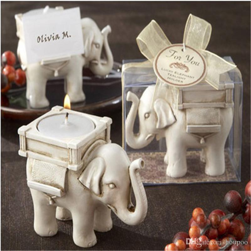 Lucky Elephant Candles Holder Wedding Centerpieces Home Decor Party Bedroom Decoration Household Craft Suppiles Candle Holders Metal