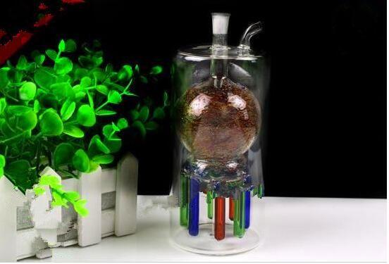 Multi pastillas garra pipa de agua bajo el color al por mayor de la hornilla de aceite de cristal del tubo de agua de cristal plataformas petrolíferas pipas de fumar, el petróleo.