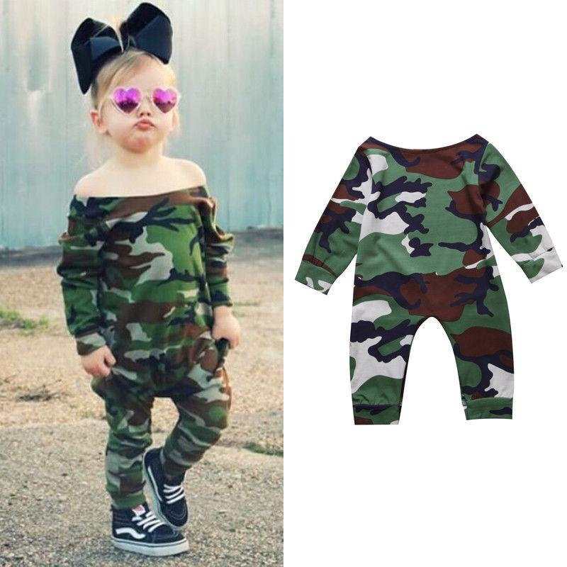 Baby Girl Camo Clothes Extraordinary Best Newborn Baby Girl Jumpsuit Toddler Kids Girl Camouflage Romper