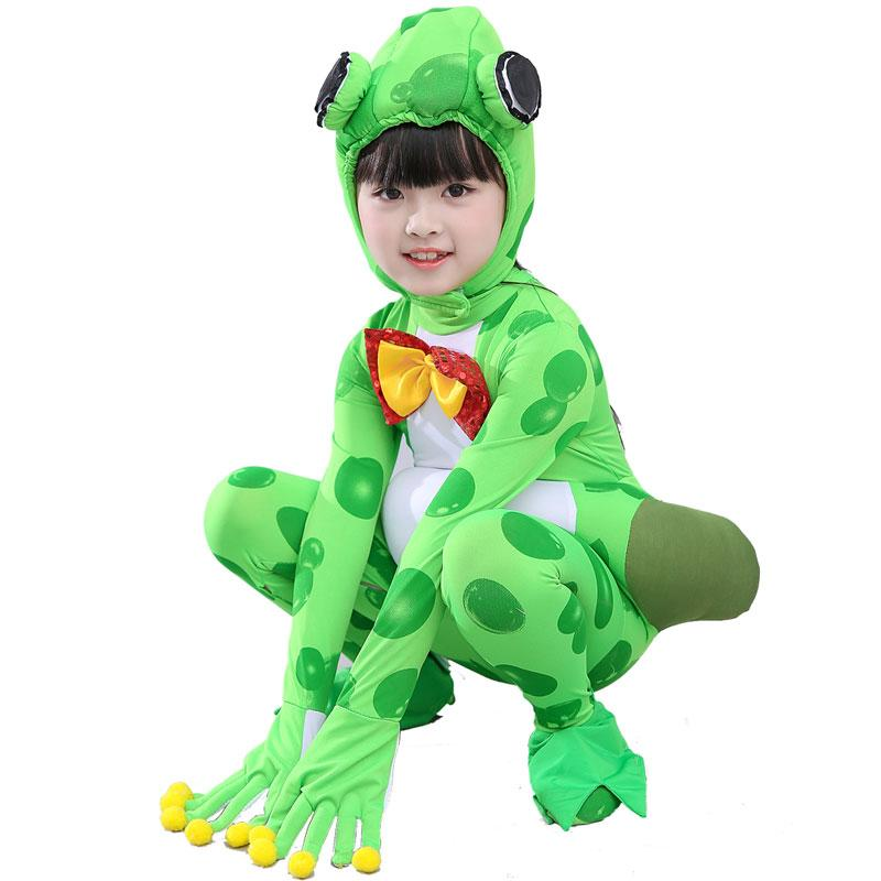 frogs children frog costume for kids kindergarten performance clothing cute animal jumpsuit festival dance for children best halloween costumes for groups
