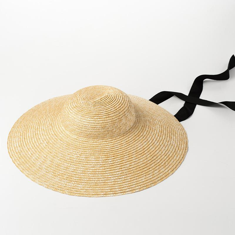 Wide Brim Sun Hat For Women 2018 Summer Beach Straw Hats For Ladies Vintage Bucket  Hats With Ribbon Ties 681025 Bowler Hat Panama Hat From Shemei 9084ad331228