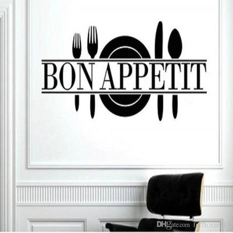 Bon Appetit Vinyl Kitchen Lettering Wall Sayings Home Decor Art