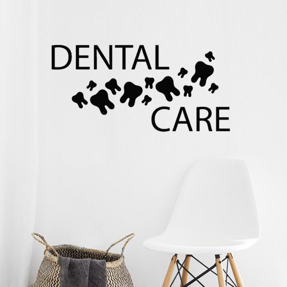 Dental Care Vinyl Wall Decal Healthy Teeth Mural Dentist Clinic Art Decor Stickers Wallpaper Home Decorate Bathroom Decals