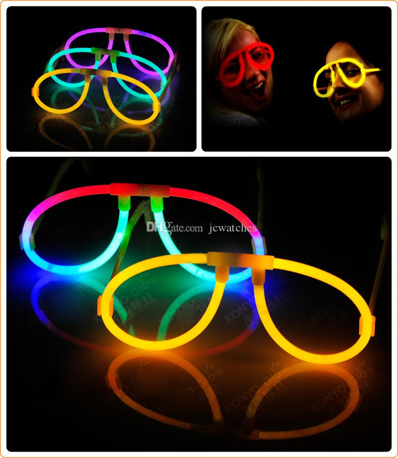 Glow Stick Eyeglasses Glow In The Dark Rave Party Glasses Birthday Wedding Favors Glow Party Supplies Christmas Halloween Decoration