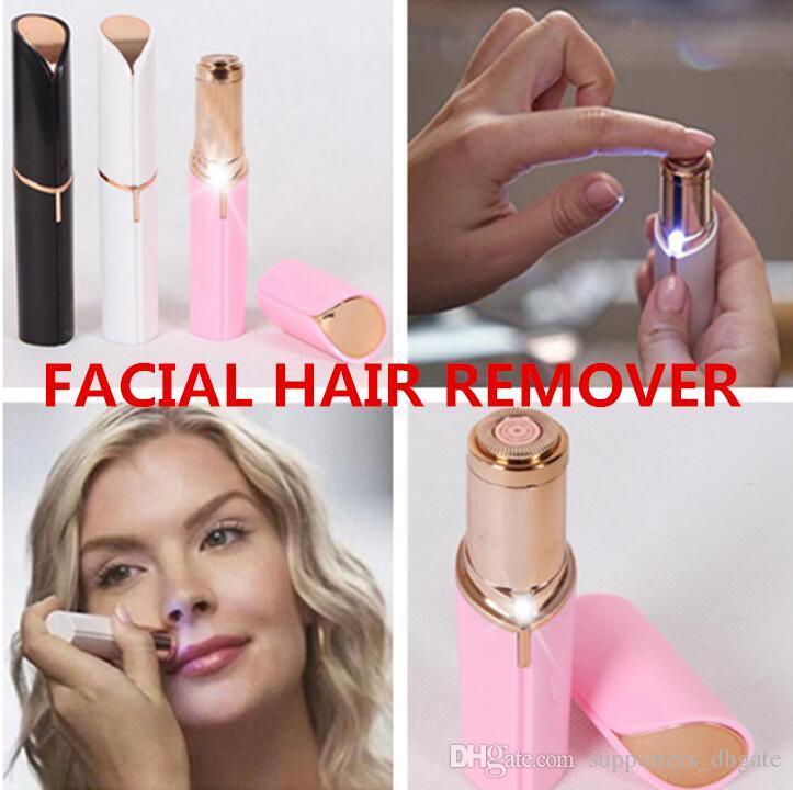 Compre NUEVA Afeitadora De Afeitar Eléctrica Wax Flawles Depilación Facial  Mujeres Lápiz Labial Portátil Mini Removedor De Pelo Trimmer Máquina De  Afeitar ... 4c31560fea06