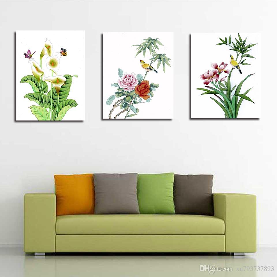 2018 Wall Pictures Hd Print Painting Flower Bird Leaf Nordic Style Canvas  Simple Art Minimalist Poster For Home Wedding Decoration From Xu793737893,  ...