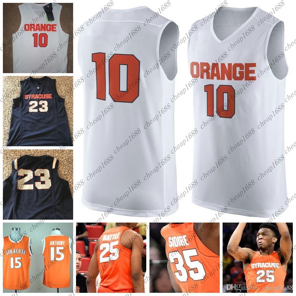 huge discount 8823e 47a6f Syracuse Orange College Basketball 21 Marek Dolezaj 13 Paschal Chukwu 2  Matthew Moyer 35 Bourama Sidibe Stitched Any Name Number Jersey