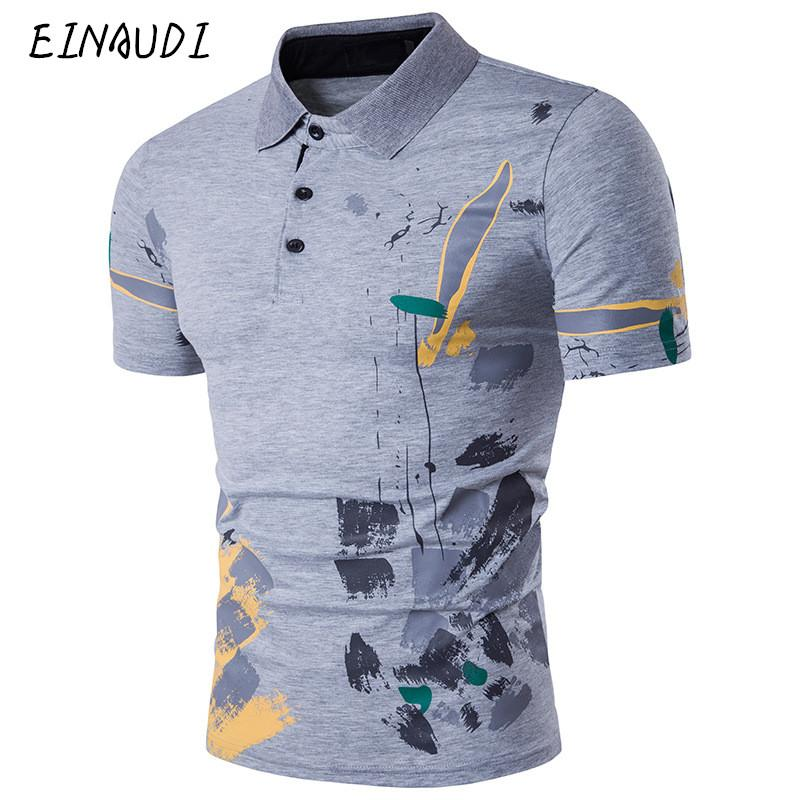 Newest Designer Fashion Brand Male Polo Shirt Printing Short -Sleeve Slim Fit Shirt Men Polo Shirts Casual Polo Homme