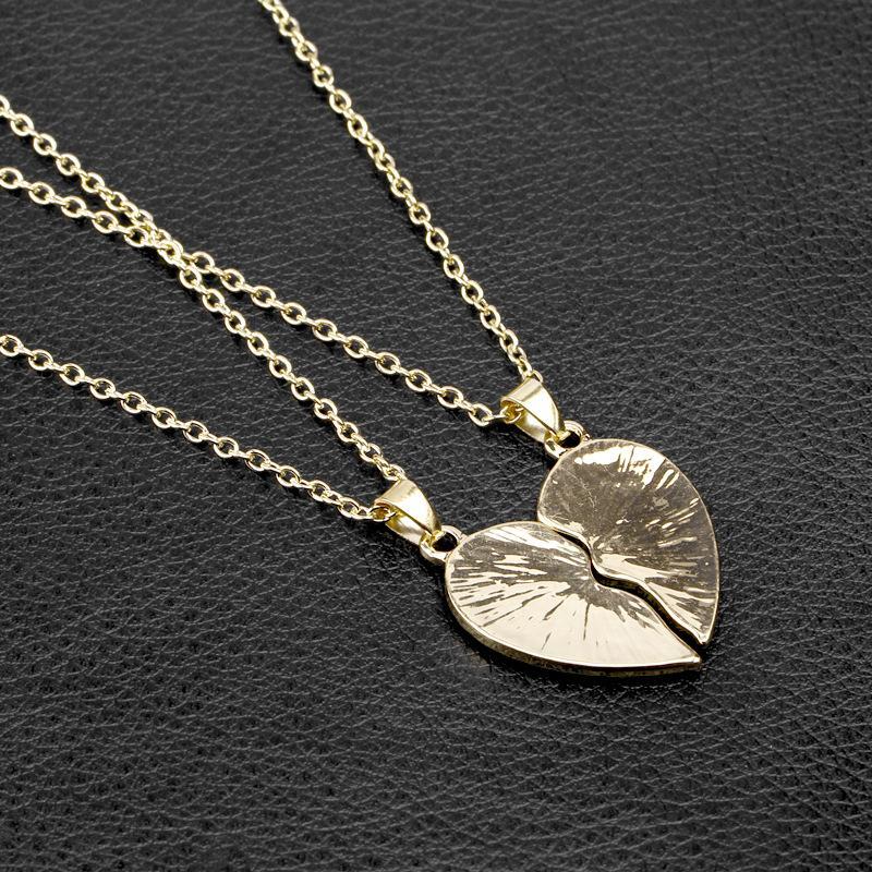 Amantes da moda Colar Seu um Seu único Colar De Prata De Ouro Letras de Moda Jóias Para O Presente Venda Quente