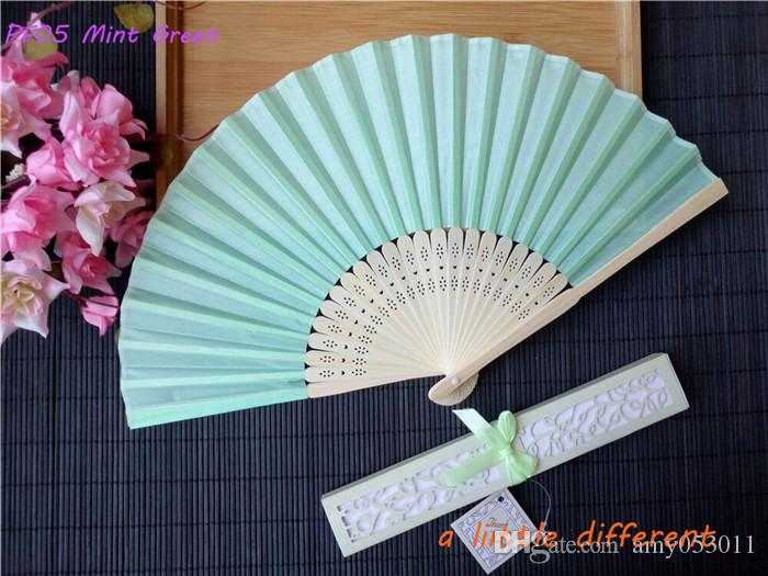 21cm Chinese Hand Paper Fans Folding Bamboo Fan Wedding Hand Fans