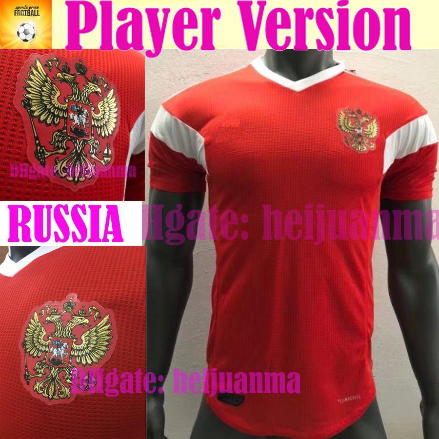 2018 Versión Del Jugador Rusia Camisetas De Fútbol 2018 Copa Del Mundo Casa  Rusa Roja Uniforme De Fútbol Calidad Tailandesa Kokorin Dzagoev Smolov  Fútbol ... d45e033bf3c47