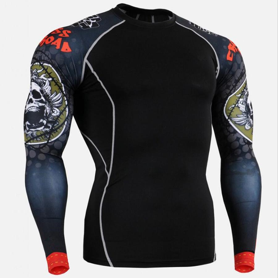 e8bd19a3c 2019 Rashgard Sport Tshirt Running Shirt Men Fitness Training Long Sleeves  Shirts Gym MMA Dry Fit Sport Shirt Man Clothes T From Pothos