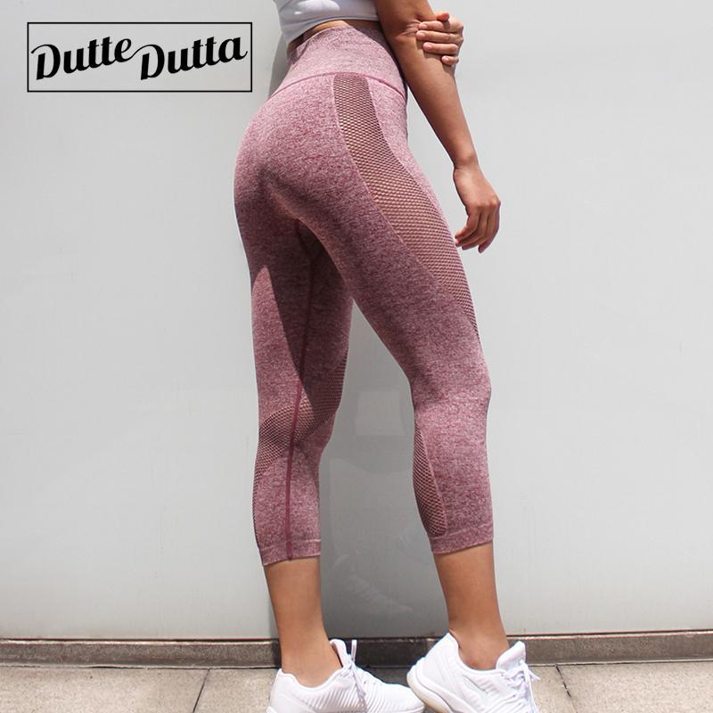 release info on more photos good texture Workout Clothes Gym Leggings Fitness Capri Yoga Pants For Women Womens  Capris Pink Sport Sportswear Mesh Pants Yoga Legins Joga