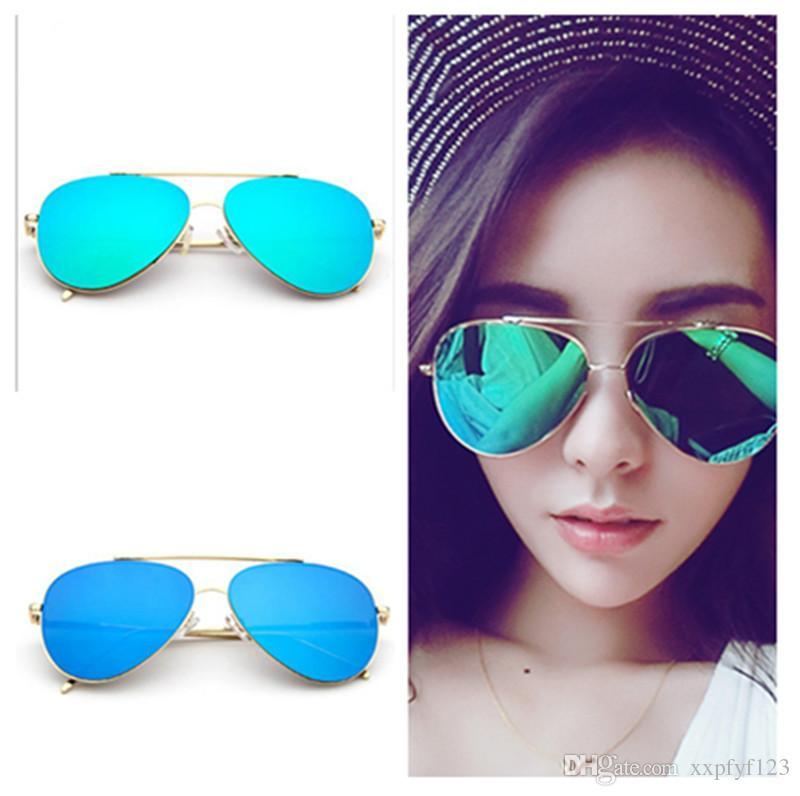 645a78ced2 2018 Men Women Designer Sunglasses Pilot Dazzle Frog Sun Glasses Gold Frame  Colorful Shades 61mm Len Oculos De Sol A35 Theo Eyeglass Frames Top  Eyeglass ...