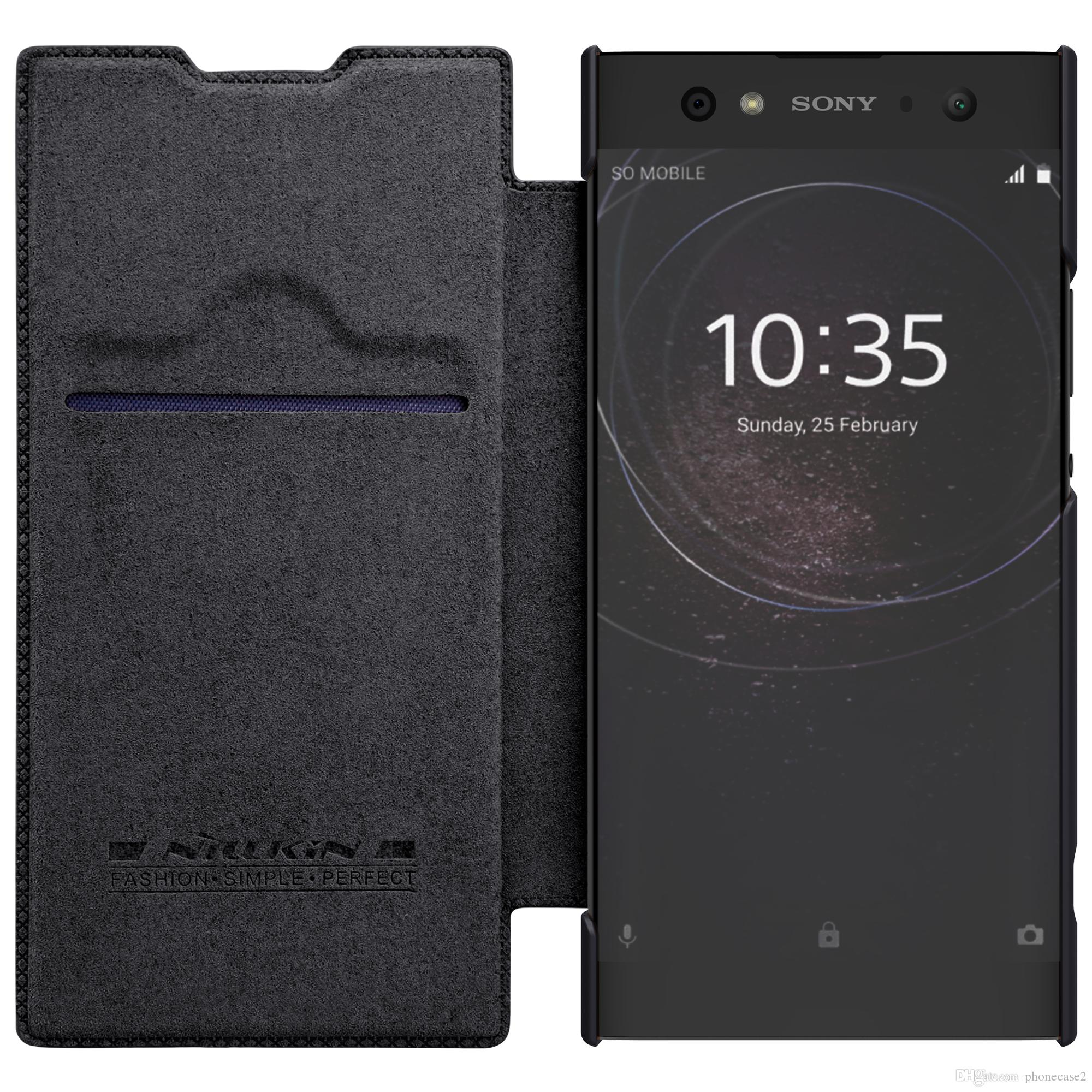 low priced a56e1 5303e Case For Sony Xperia XA2 Ultra Nillkin Qin Luxury Flip Leather Cover Bag  for For SONY Xperia XA2 Ultra Case