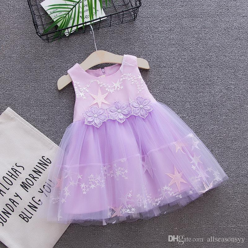ae050a18e 2019 2018 Summer Baby Girls Dress Kids Girls Party Birthday Frock ...