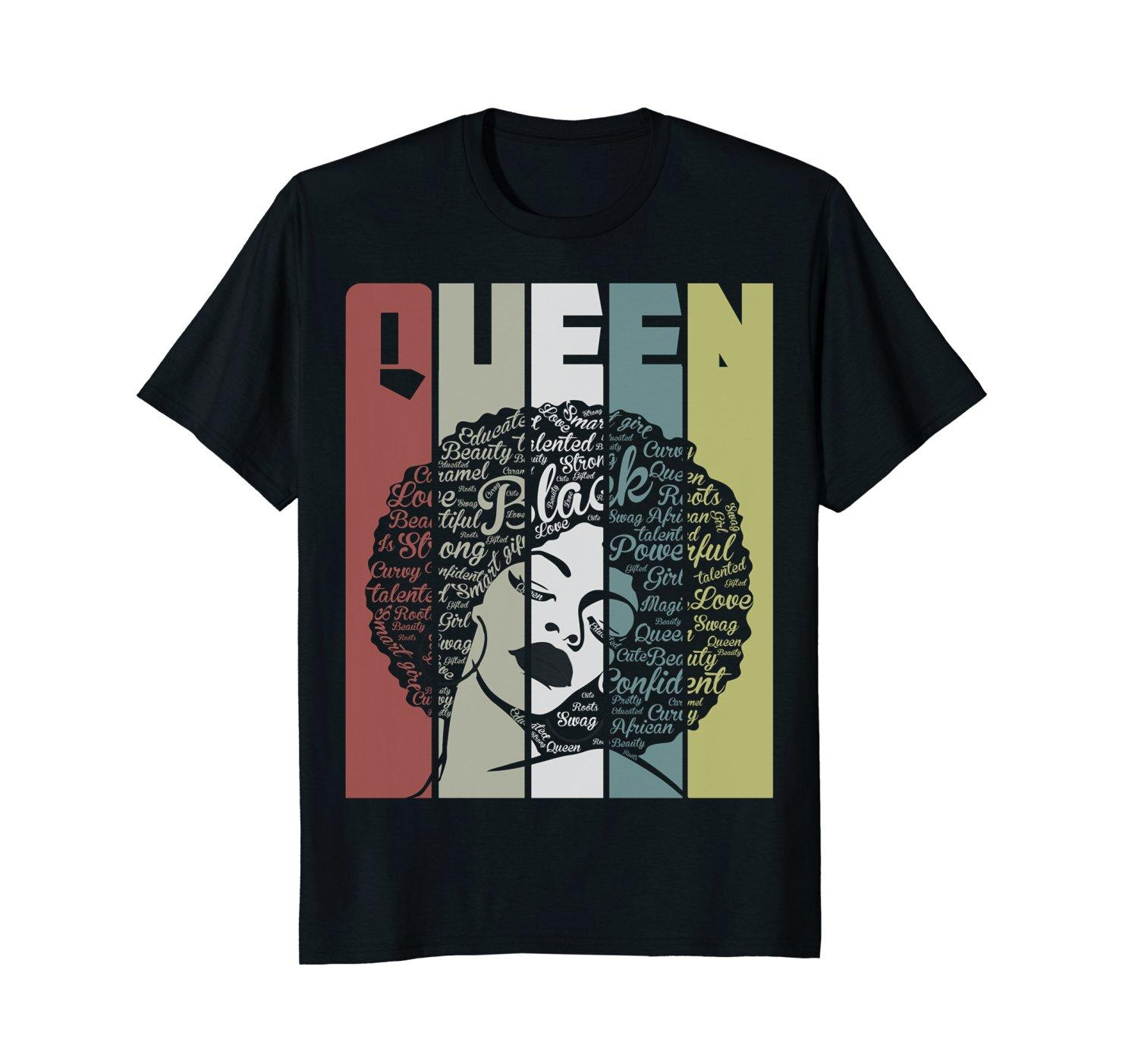 382b056f7 Strong Black Woman With Afro Word Art Natural Hair Tee Shirt Funny Screen Tees  Shirts With Design From Layorstore, $24.2| DHgate.Com