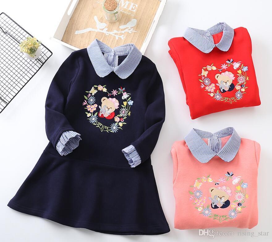 Niños Larga Otoño Niña Raya Vestido Compre Ropa De Manga wB7IqB0Xn 1aaba816645c2