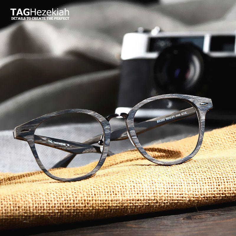 ae0ea06377 Compre ETIQUETAS Hezekiah Brand Wood Eyewear Frames Mujeres Hombres Gafas  Redondas Miopía Ordenador Gafas Ópticas Gafas De Grau Lentes Ópticos A  $46.97 Del ...