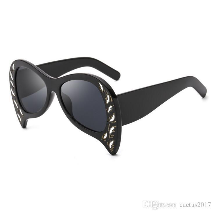 cc3e0f558a Bat gafas de sol retro gafas de sol de marca de lujo especial ojo de gato  gafas de sol negro diamante de gran tamaño en forma de murciélago gafas de  ...