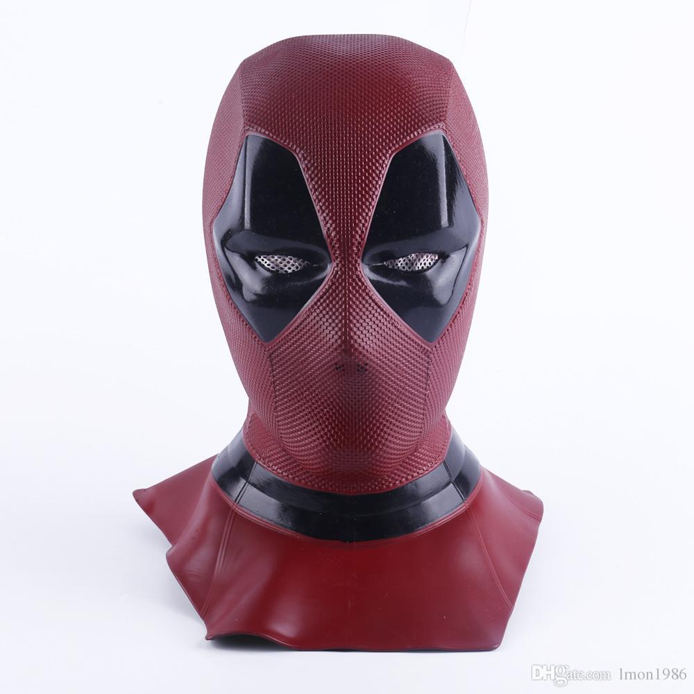 Deadpool 2 Marvel Deadpool Masks Halloween Cosplay Costume Props Superhero Movie Latex Mask Collectible Toys Full Face Mask