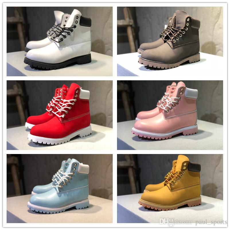 6bb260077232 Cheap Sale Classic Tbl 10061 All White Pink Fashion Designer Winter Boots  Top Quality Cowhide Women Mens Snow Rain Shoes Sneakers Size 36 46 Cheap  Boots ...