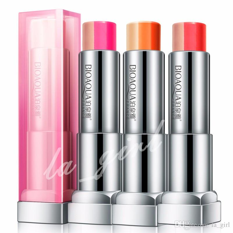 BIOAQUA gradual change Bite lips Moisturizing Three color lipstick charming lip gloss Persistent Makeup