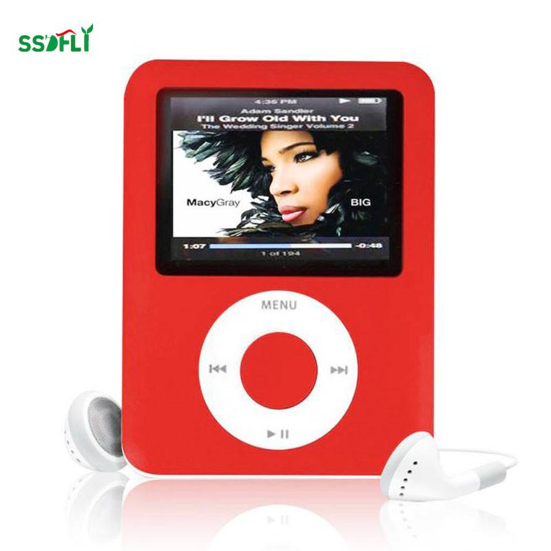 ssdfly Hot High Quality MP4 With Earphones 1 8inch Screen LCD Media Video  Game Movie FM Radio 3th Generation MP4 Music Player