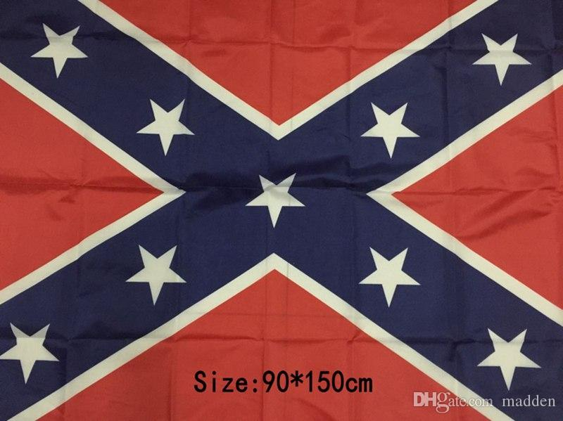two Sides Printed Flag Confederate Rebel Civil War Flag National Polyester Flag 5 X 3FT H11w