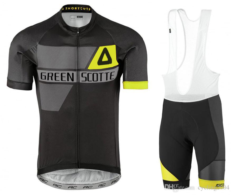 1411a6d9 2018 Green Scotte Short Sleeve Cycling Jersey bib Shorts Set Gel Pad Leg  Warmers Quick Dry Breathable Cycling Clothes Ciclismo Wear