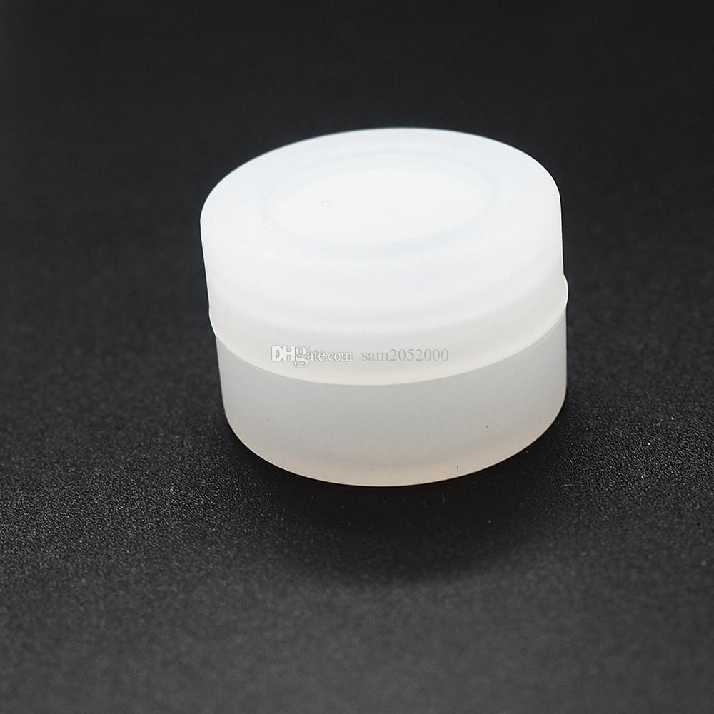 3 ml Clear Non Stick Silikonowe słoiki DAB Wax Containerbutane Hash Oil Silikonowy Pojemnik na sprzedaż 500 sztuk / partia Darmowa Wysyłka